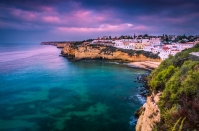 Carvoeiro small town on the Portuguese coast Algarve Portugal ** Note: Soft Focus at 100%, best at smaller sizes